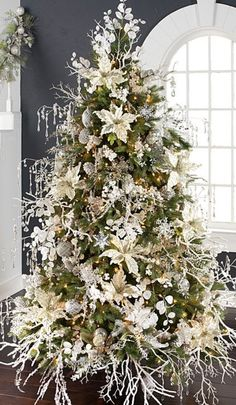 White is in people. As long as nature trees, gold, silver, grey, rose gold, and flower Christmas trees.