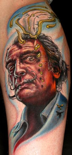 Stefano Alcantara- Amazing tattoo artist.  Salvador Dali- Amazing Artist.