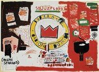 Untitled Crown by Jean-Michel Basquiat