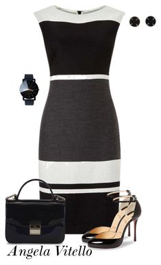Untitled #926 by angela-vitello on Polyvore featuring polyvore, fashion, style, Christian Louboutin, Furla, Melissa Joy Manning and clothing