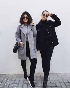 Look de inverno minimalista #cinza #tudoorna #irmãsalcantara