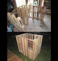 pallet children house in progress1 600x641 Kids house in pallet garden pallets architecture  with Playhouse Kids Projects with Pallets House