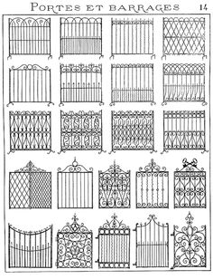 Forge salers - Ferronnerie d'art, artisan forgeron, fer forgéYou can find Wrought iron gates and more on our website. Iron Gate Design, House Gate Design, Fence Design, Garden Design, Metal Gates, Wrought Iron Fences, Tor Design, Gates And Railings, Grill Design