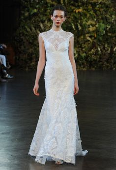 High Collar Wedding Dress | Claire Pettibone Wedding Dresses Fall 2015 | Kurt Wilberding | Blog.TheKnot.com