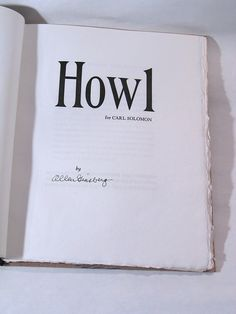 howl - an all-time favorite. i NEED this version.