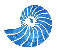 Stencil Art, Stencil Designs, Stenciling, Shell Drawing, Nautilus Shell, Custom Stencils, Shell Art, Stained Glass Patterns, Watercolor Art