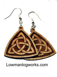c77ff3b48ac1f9 These beautiful solid maple trinity knot wooden earrings are classy yet a  great fashion accessory for