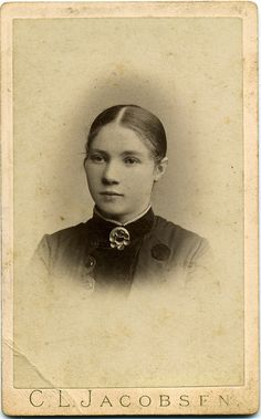 CDV Portrait of a young woman - Norway - c.1885 by Patrick Bradley 70, via Flickr