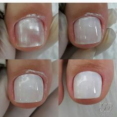 New Gel Pedicure Toes Simple Ideas Pedicure Colors, Pedicure Designs, Pedicure Nail Art, Nail Colors, Nail Art Designs, Hair And Nails, My Nails, White Toenails, French Pedicure