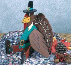 #Thanksgiving Turkey Tabletop Decoration