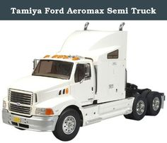 """Tamiya Ford Aeromax Semi Truck. Tamiya ventured into the modeling business in 1948, with a scale wooden ship model kit. Since then, Tamiya has been striving to offer merchandise that can truly be called """"First in Quality Around the World."""" Now Tamiya is offering more than 300 different products, both in the fields of precision static models and high performance radio control vehicles. These products are not only sold in Japan but also exported in vast quantities to the United States…"""