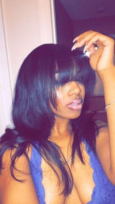 Cheap Human Hair Wigs Lace Frontal Brazilian Hair Best Half Wigs For B – Shebelt mall Short Bob Hairstyles, Hairstyles With Bangs, Weave Hairstyles, Wigs With Bangs, Pretty Hairstyles, Sew In With Bangs, Hairstyles 2016, Black Hairstyles, Wedding Hairstyles