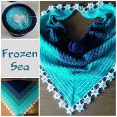 """Tuch aus Farbverlaufsgarn """"Frozen Sea"""" von 500 m bis 1500 m Lauflänge, 3 bis 5fädig ab 6,90 € unter www.garnstube.de"""