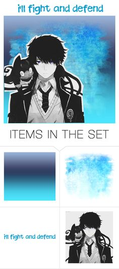 """""""Ao No Exorcist / RTD"""" by thegirlwhofelltoearth ❤ liked on Polyvore featuring art"""