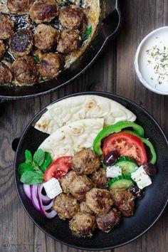 Keftedes greek meatballs recipe the mediterranean dish best greek koftedes greek meatballs recipe forumfinder Choice Image