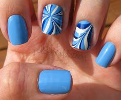 Polish Art Addict: Blue Water Marble