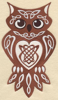 CELTIC KNOTWORK - OWL - MACHINE EMBROIDERED QUILT BLOCK (AzEB) | Crafts, Sewing, Quilting | eBay!