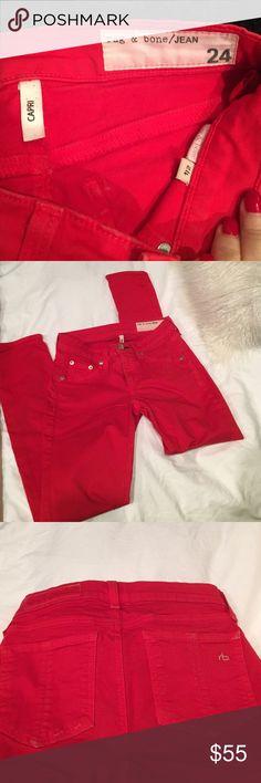 Rag & Bone red capri pants-size 24 ‼️Rag & Bone red capri pants-size 24‼️ rag & bone Pants