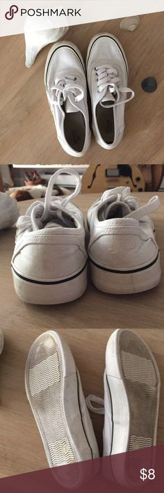 176ef2a0bb White sneakers Mossimo size 7 these sneakers are worn but washed and they  have plenty of life left in them Mossimo Supply Co.