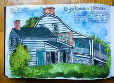Last Saturday I met up with the @nycurbansketchers weekend group at the Dyckman Farmhouse Museum in the Inwood neighborhood of upper Manhattan. I had no idea this old Dutch farmhouse was so close to my own apartment but there it has stood since before the American Constitution was signed! The NYC sketchers and Urban Sketchers Indonesia met on the same day to do a sketch trade to commemorate the 350th Anniversary of the signing of the Treaty of Breda. With that treaty the island of Manhattan…