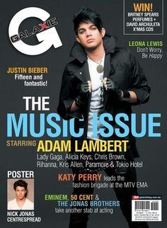 ADAM LAMBERT MAGAZINE COVERS