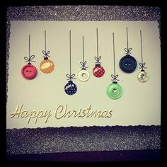Cute Christmas card idea. Great for a kids activity xxx…