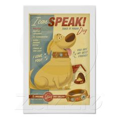 Funny dog collar advertisement poster
