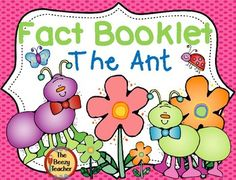 This fact booklet on ants is a great resource to use for doing a research project on insects with your kindergarten class. It is difficult to find age appropriate facts where the child can be independent in their research skills. Included in this product is a black and white informational book about ants, a worksheet for