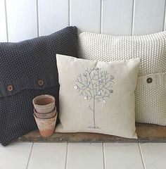 Handmade Cable Knit Cushion Covers