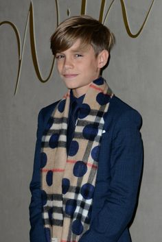 Pictured: Romeo Beckham | The Youngest Beckham Boys Look All Grown Up on the Red Carpet With Victoria | POPSUGAR Celebrity