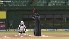 Darth Vader Imperial Baseball. Star Wars and Baseball Combine in One GloriousGIF | SI.com