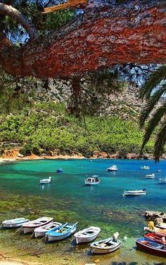 Myrtia beach, Samos Island (North Aegean), Greece