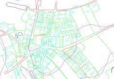Plan d'une commune d'Ille et Vilaine réalisé avec AutoCAD Stage, Autocad, Map, Architecture, Atelier, Arquitetura, Location Map, Architecture Illustrations, Scene