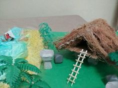 A model of an ancient Chamorro (Guam) housing made out of recycable item by Sheila Marie Matienzo