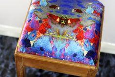 Coral velvet wooden stall | Evelle Home