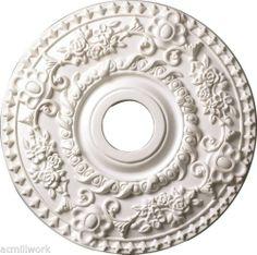 Ceiling Medallion 18 inch Primed White D522 for Light Fixture Round Large Design   eBay