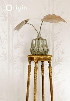 non-woven wallpaper bamboo white. collection metropolitan Origin