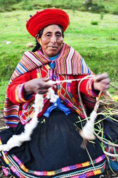 Spinning a Yarn in  Cusco, Peru http://www.myadventurestore.com/tours/destinations/latin-america/peru