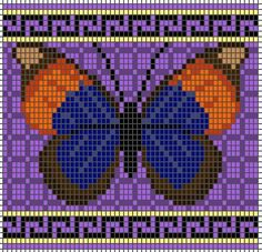 free butterfly knitting and beading charts