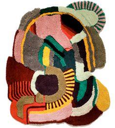 Rug by graffiti artist Jonathan Josefsson Aus alten Teppichen eine individuelle Teppichfigur zimmern, fabelhast!