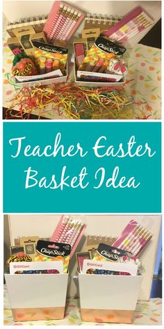 Diy candy easter basket appreciation gifts appreciation and teacher dont forget your childs teacher this easter check out this easy teacher easter basket idea for less than 20 that your childs teacher is sure to enjoy negle Image collections