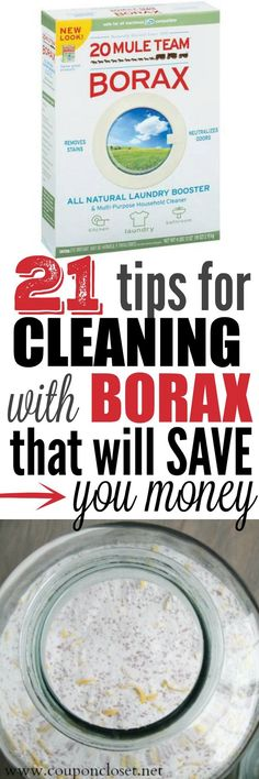 Easy Frugal Tips for Cleaning with Borax - I didn't know it had so many uses.