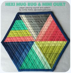 Paper Piecing Tutorial and Pattern in 2 Sizes, perfect for Mug Rug or Mini Quilt Swaps on Instagram!