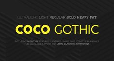 Coco Gothic Free Font Family