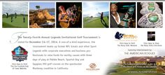 Our 24th Legends Invitational #Golf Event will be held from November 14-17, 2014.