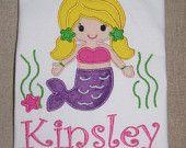 Personalized Mermaid Applique Shirt
