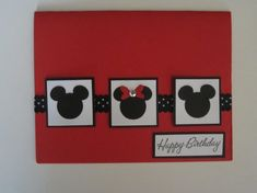 Mickey and Minnie Happy Birthday Card