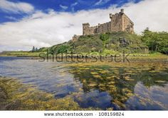 Dunvegan castle on the Isle of Skye - the seat of the MacLeod of MacLeod, Scotland