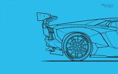 Ilustración vectorial de un Liberty Walk Lamborghini Aventador. Ferrari 458, Lamborghini Aventador, John Fowles, Liberty Walk, I Am Beautiful, Car Illustration, First Car, Sketch Design, Art Drawings Sketches