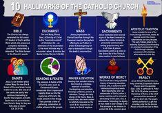 10 Hallmarks of the Catholic Church Catholic Catechism, Catholic Religious Education, Catholic Doctrine, Catholic Answers, Catholic Mass, Catholic Religion, Catholic Prayers, Roman Catholic, Catholic Sacraments